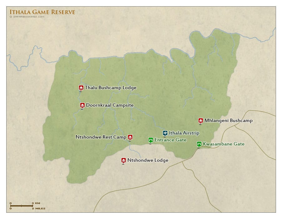ithala reserve map